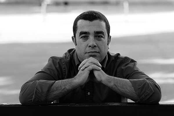 Retrato de Román Delgado, periodista, geógrafo y profesor. / ÁLEX ROSA