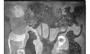 Muy tranquilo, de Manuel Mendive (2009). / ARTIZAR GALERÍA DE ARTE