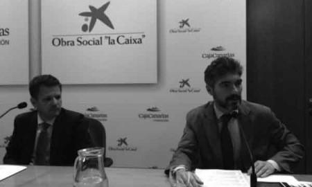 Antonio Fragoso(Cixa) y Xavier Gangonells