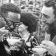 Cuban Prime Minister Fidel Castro, right, shows Angolan Movimento Popular de Libertação de Angola (MPLA) President Agostinho Neto how to drink a daikiri, a frozen Cuban drink made with rum, ice and sugar, during a reception in his honor in Havana, July 28, 1976.  (AP Photo)