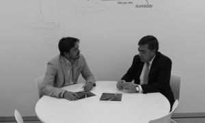 Jorge Marichal y Luis Martín Guirado, durante la firma del convenio
