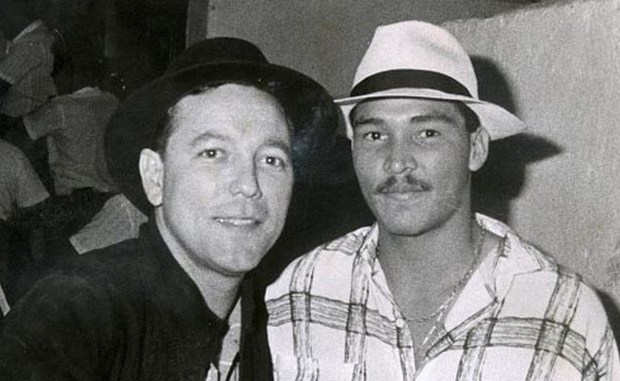 Rubén Blades y el futbolista panameño Rommel Fernández
