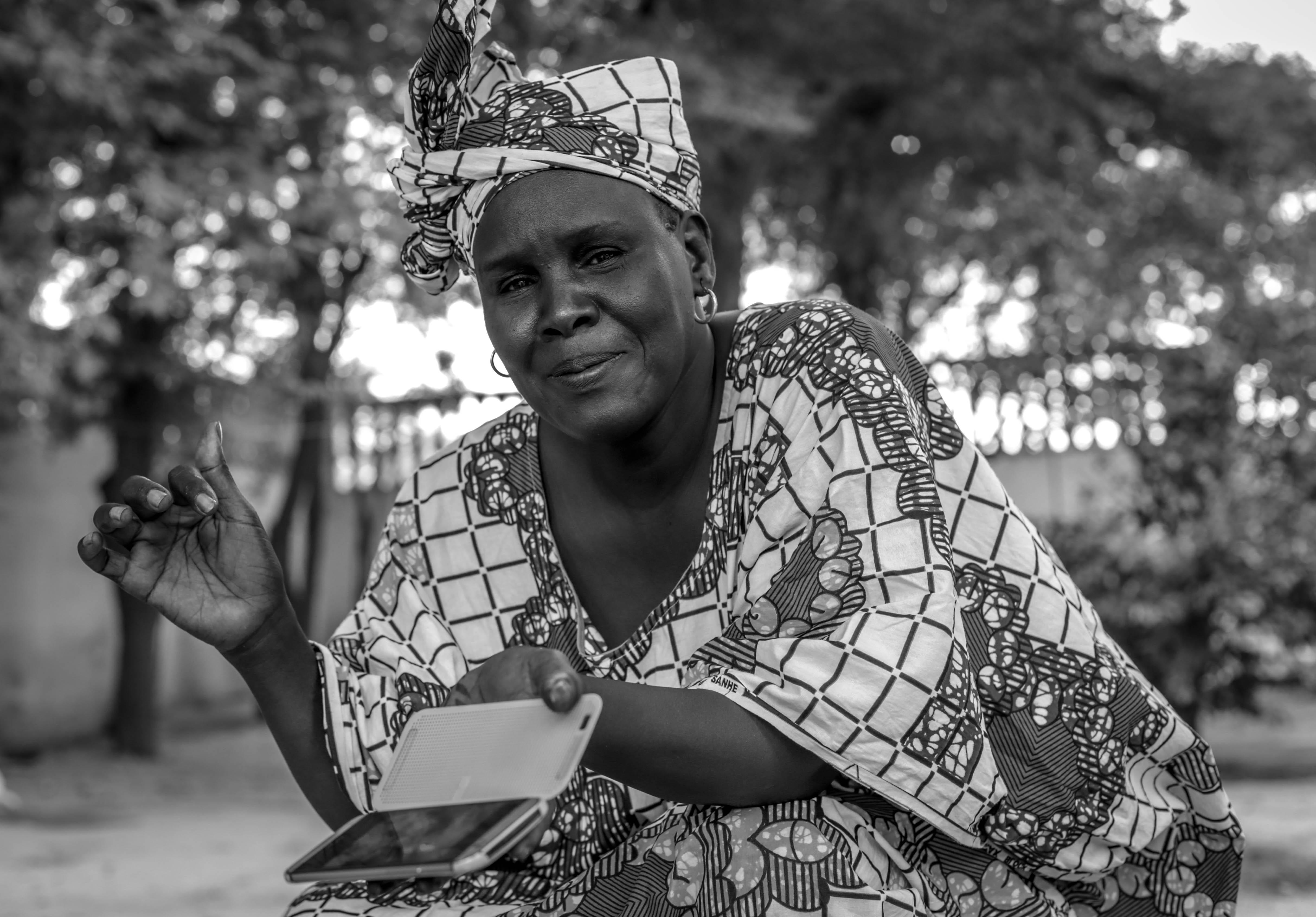Haoua Touré es la promotora de la iniciativa 'Tombouctou Belle' con la que le gustaría que la ciudad luciera limpia y bonita