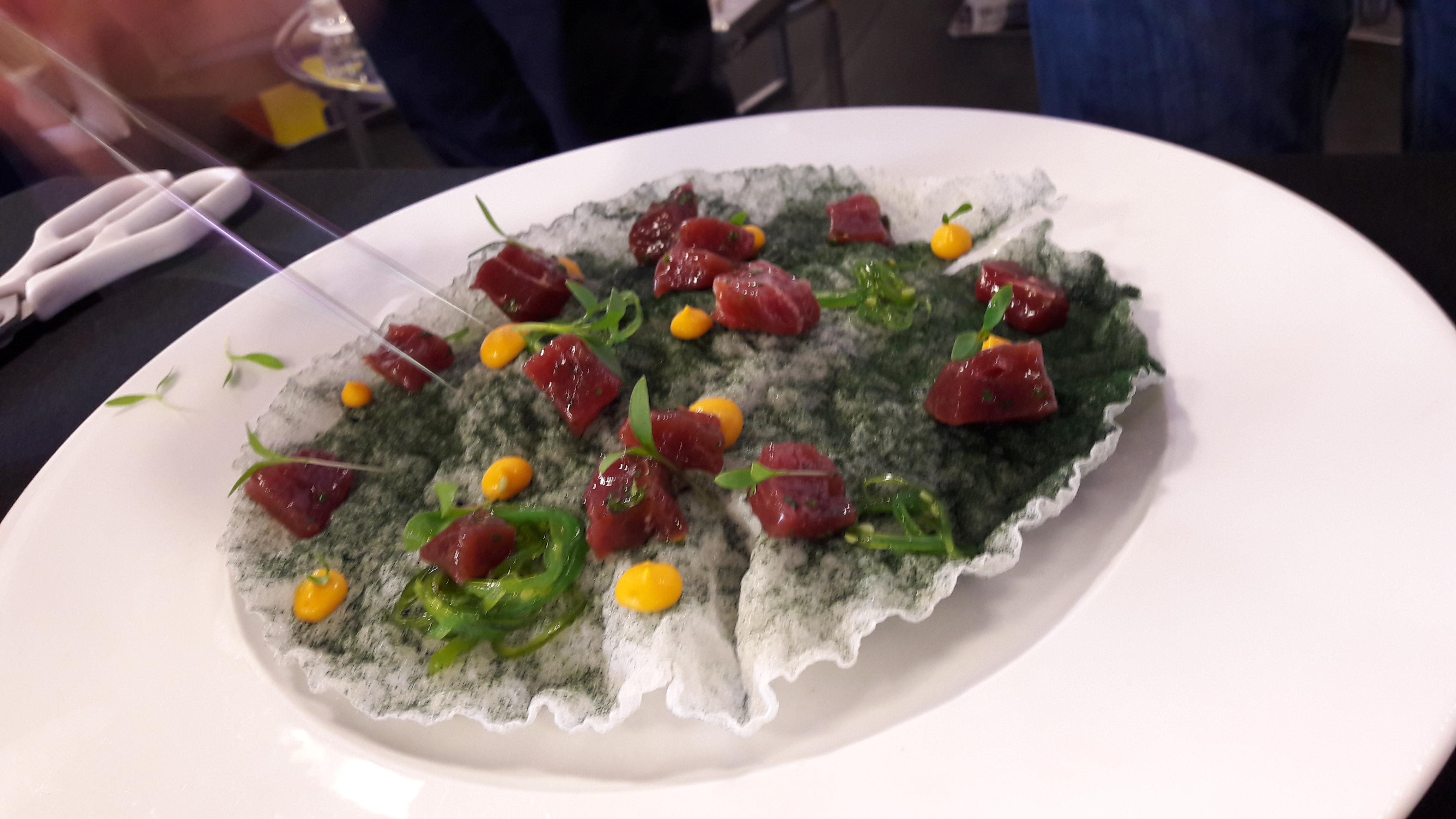 Plato con alga