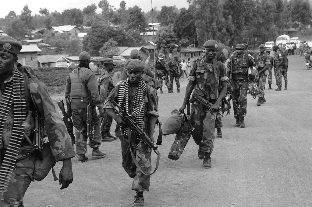 Soldados de las FARDC cerca de Goma, mayo de 2013. Vía Wikipedia Commons