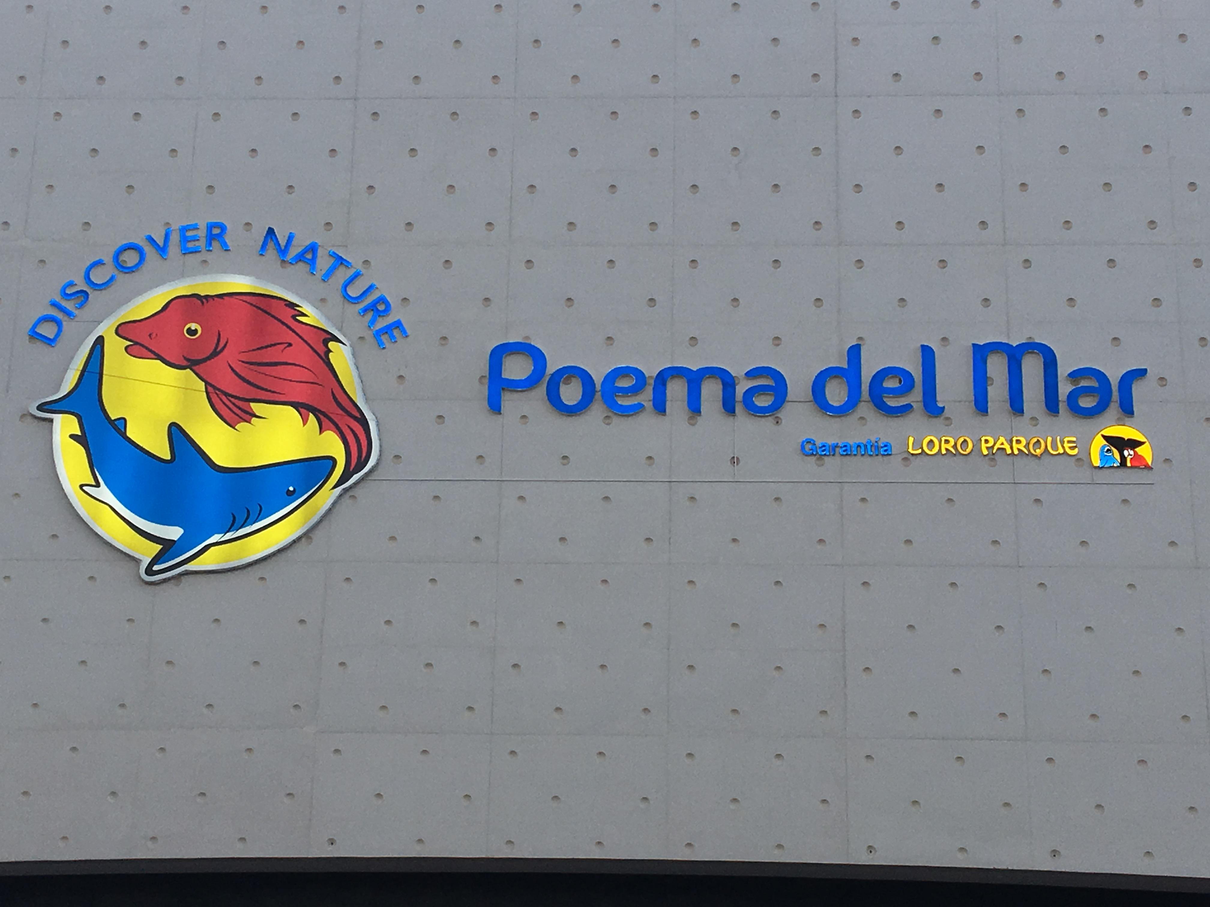 Fachada del gran acuario Poema Del Mar, en Las palmas de Gran canaria