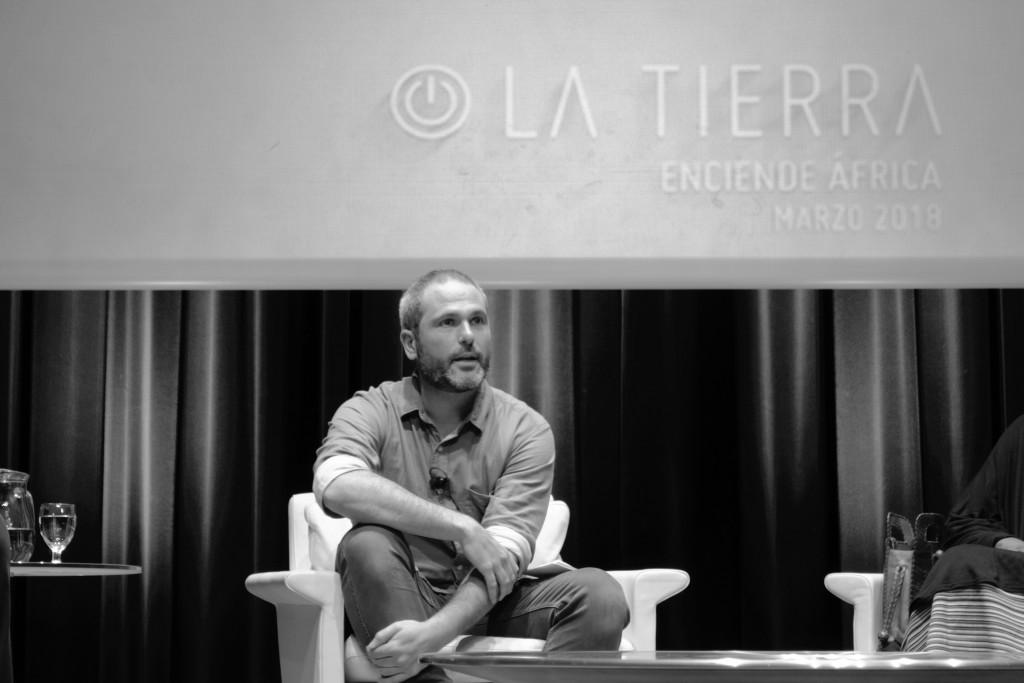 El periodista español Xavier Aldekoa, durante su participación en el foro Enciende la Tierra, de Cajacanarias