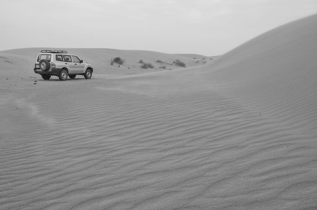 Recorriendo las dunas del desierto, próximo a Erg Chebbi