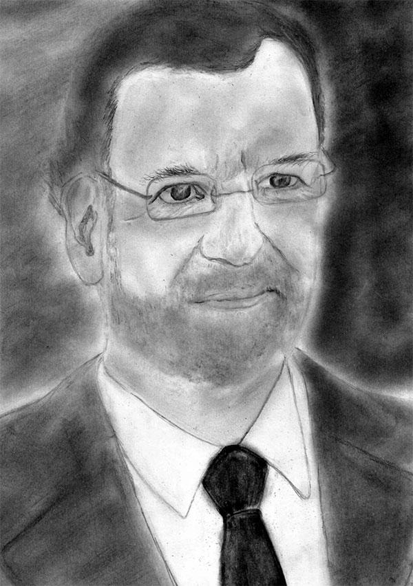 Ilustración: Raquel Toledo. Mariano Rajoy
