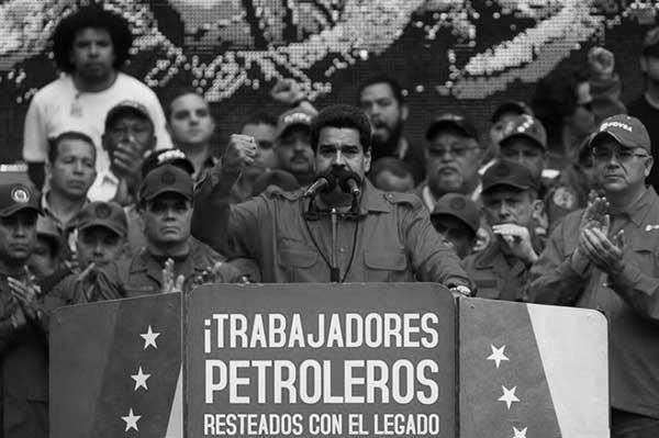 El presidente Nicolás Maduro habla en un acto de esta semana de trabajadores de la petrolera PDVSA