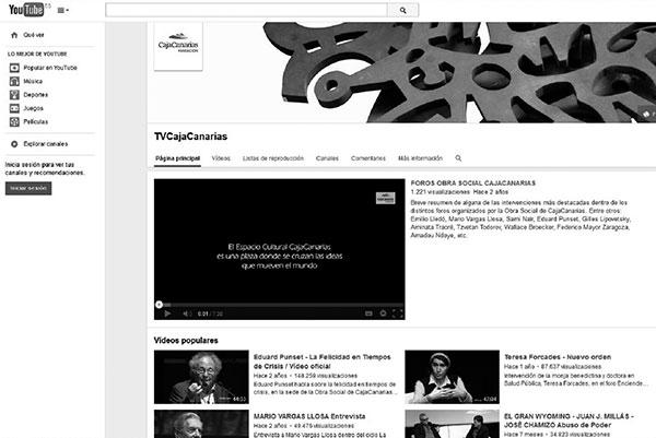 Pantallazo de la web de acceso a los vídeos en YouTube.
