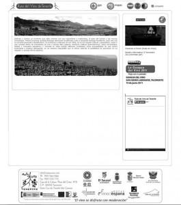 Imagen del sitio rutasyvinos.com, sin actualizar y donde aún se mete a Tenerife dentro Rutas del Vino de España, información errónea. / CANARIAS3PUNTOCERO