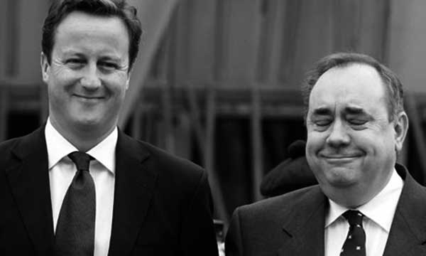 David Cameron y Alex Salmond. / THEGUARDIAN.COM