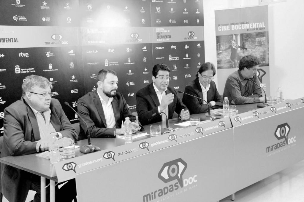 Imagen de la rueda de prensa de presentación del certamen, el miércoles pasado. / CANARIAS3PUNTOCERO