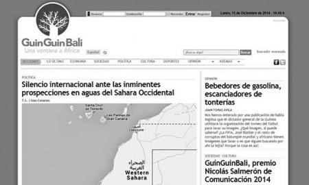 Página de inicio de la web informativa. / CANARIAS3PUNTOCERO