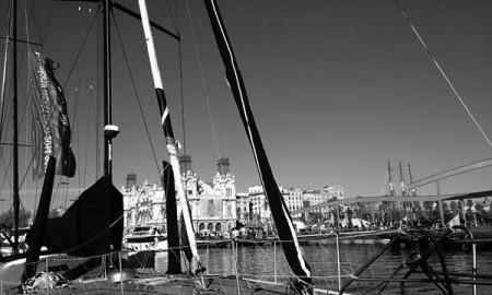 Parte de la flota, en el punto de salida de la regata, Barcelona. / B. B.