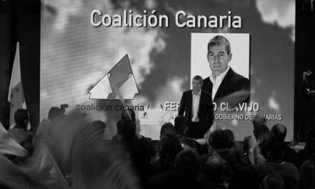 Fernando Clavijo, en la presentación de candidatos del sábado pasado. / CANARIAS3PUNTOCERO