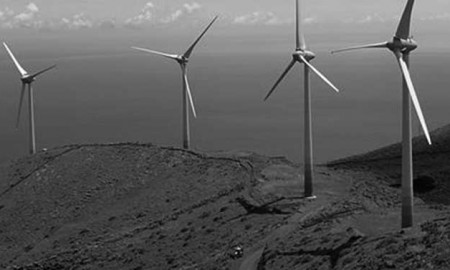 Parque eólico de la isla de El Hierro, Canarias, España