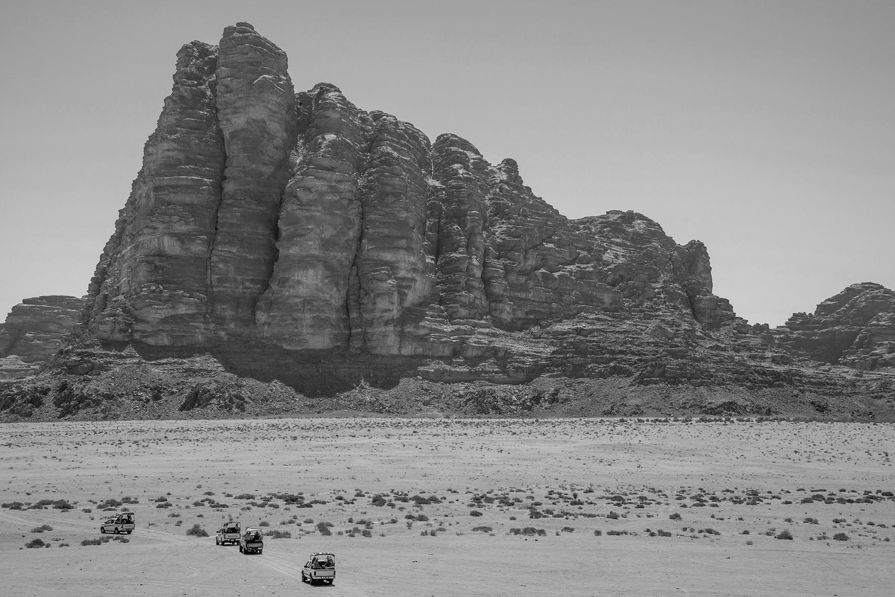 Montaña de los Siete Pilares en el desierto de Wadi Rum