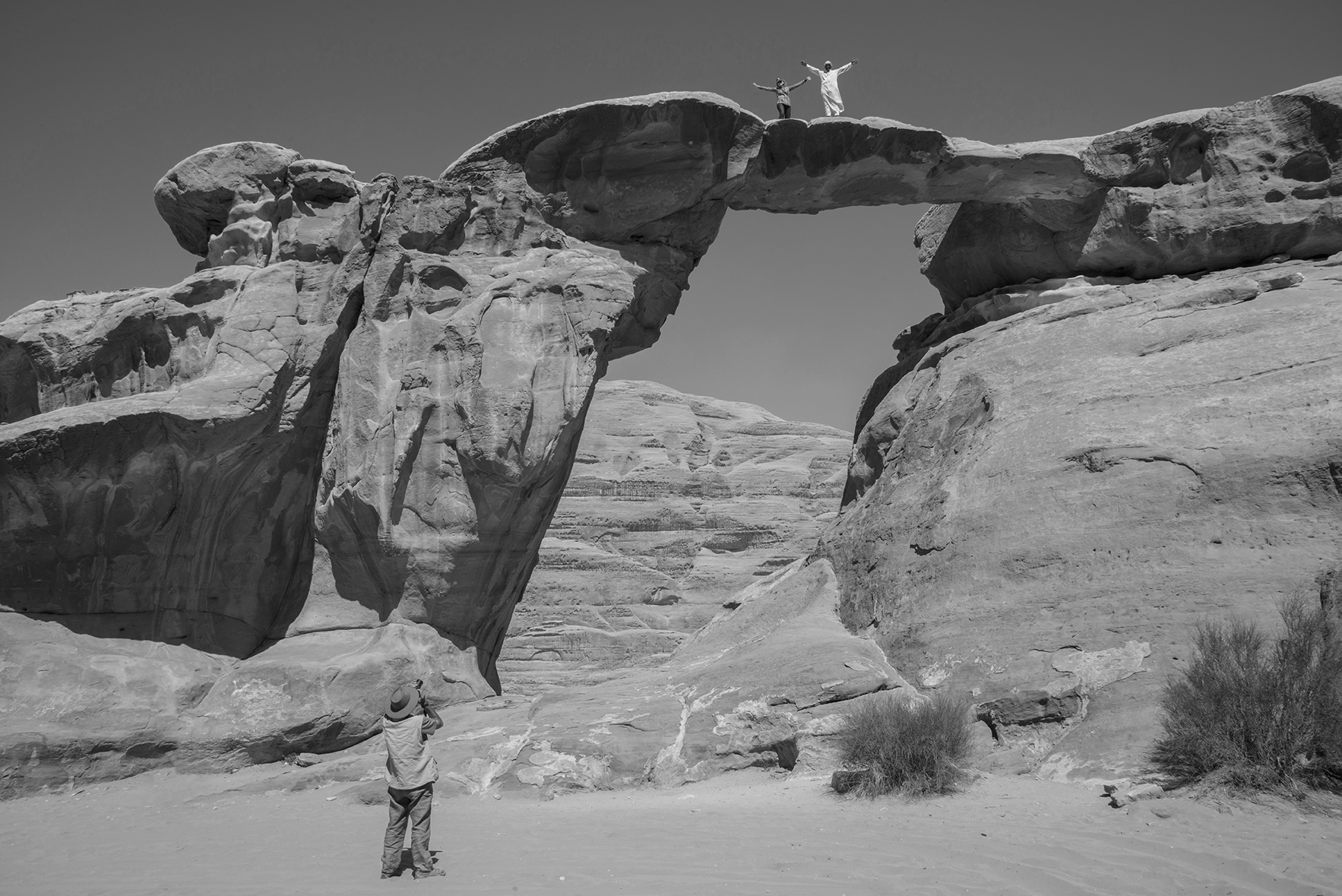 Arco natural de Um Fruth en Wadi Rum