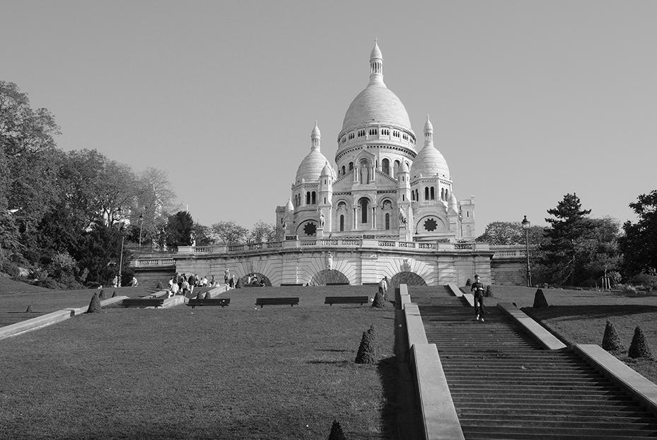 basílica del Sagrado Corazón en el barrio de Montmartre