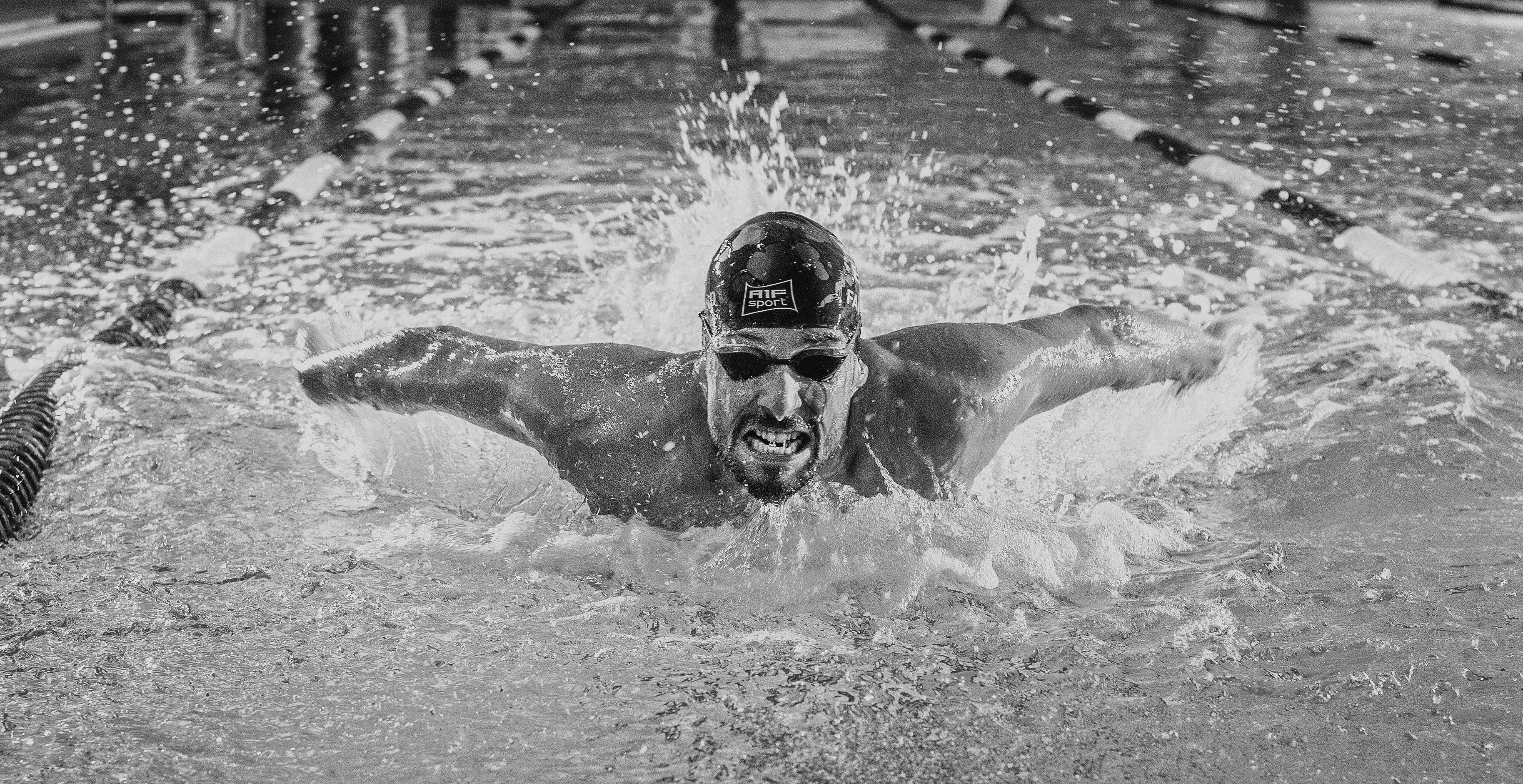 Faustino Afonso, campeón de España de 50, 100, 200, 400 en estilo libre, además de 50 mariposa. (FOTO: Joaquín Ponce de León)
