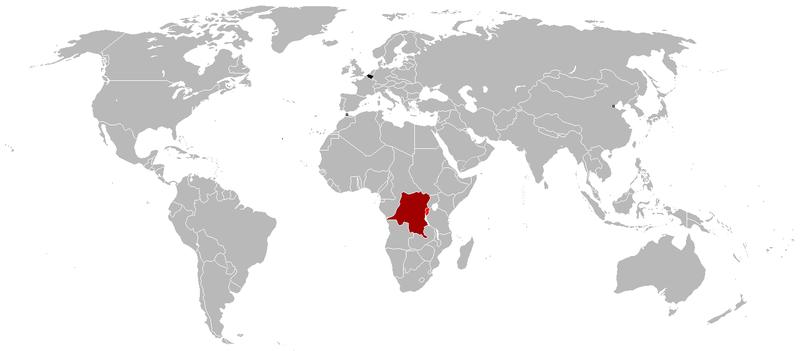 Mapa imperio Belga